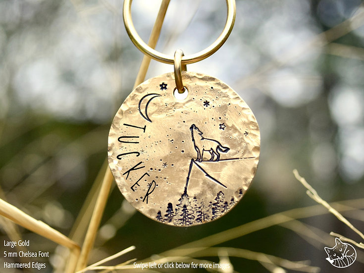Stay Wild Moon Child Pet Tag