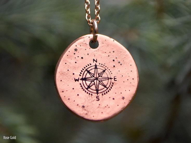 Stardust Wanderlust Round Pendant Necklace