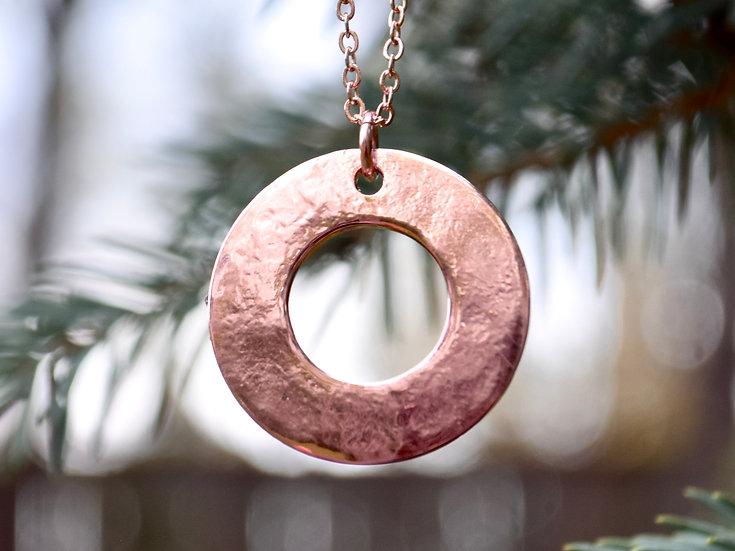 Custom Round Washer Necklace