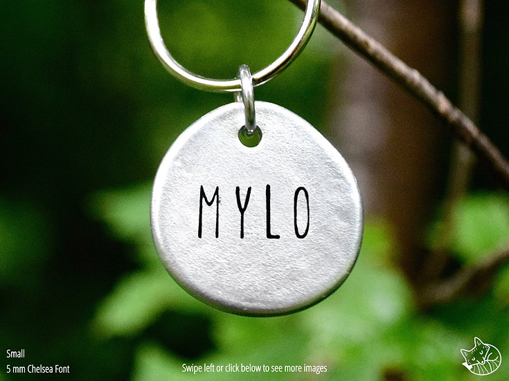 Simple Hand Cast Pewter Pet Tag