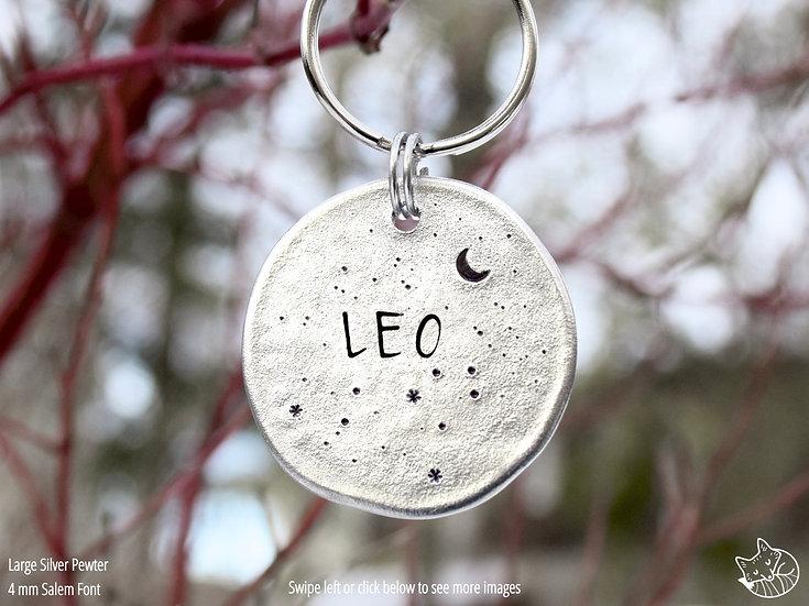 Zodiac Constellations Pet Tag