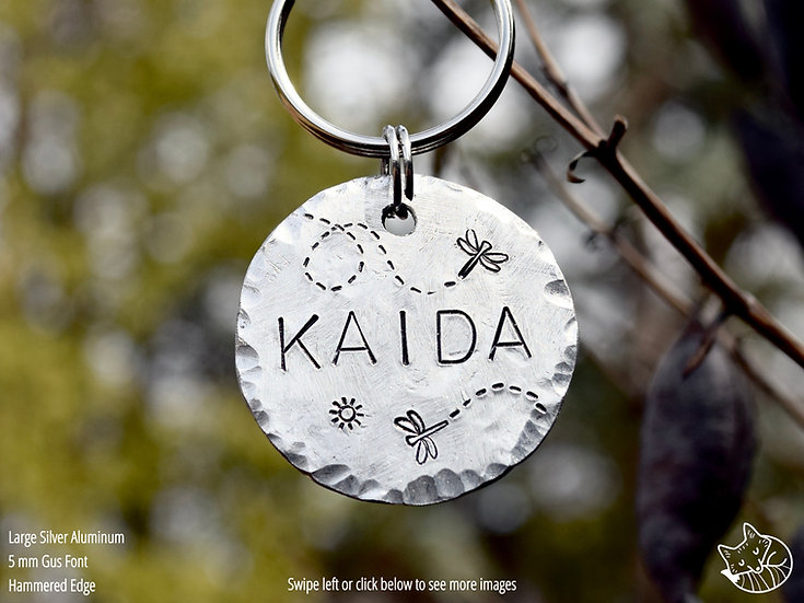 Fly Me Away, Dragonfly Pet Tag