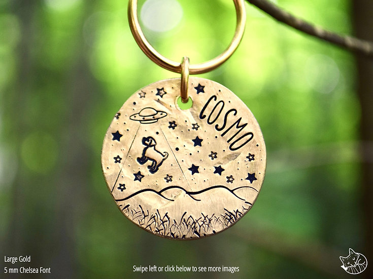 Beam Me Up, Doggy Pet Tag