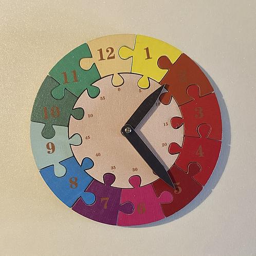 Wooden Time Teaching Clock - Rainbow