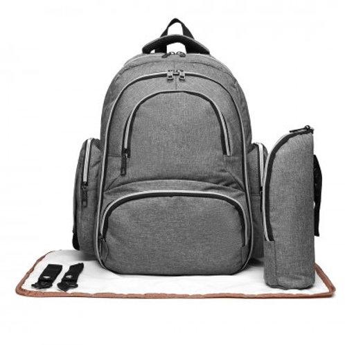 Grey Oval Changing Bag