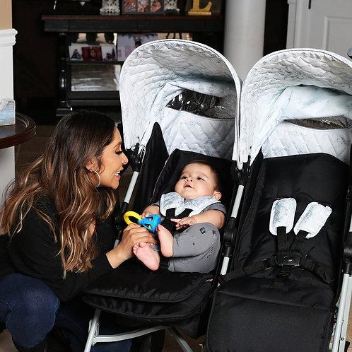 Nicole Polizzi Marble Double Stroller