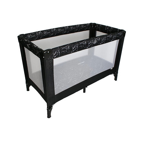 Black Marble Travel Cot