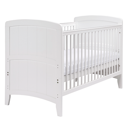 East Coast 'Venice' Cot Bed -White