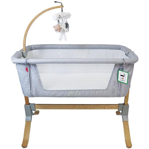 Cosy Cuddler Bedside Crib - Light Grey