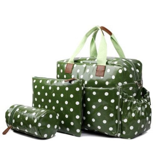 Green Spot Design Changing Bag