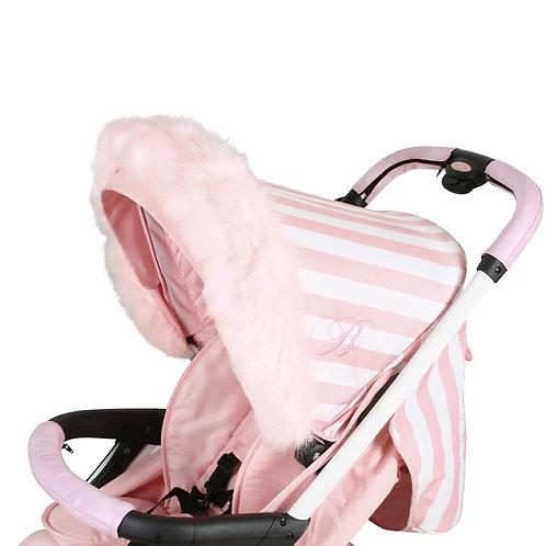 My Babiie Luxury Pram Fur in Pink