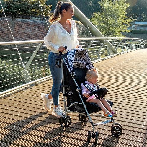 Samantha Faiers Black Leopard Lightweight Stroller
