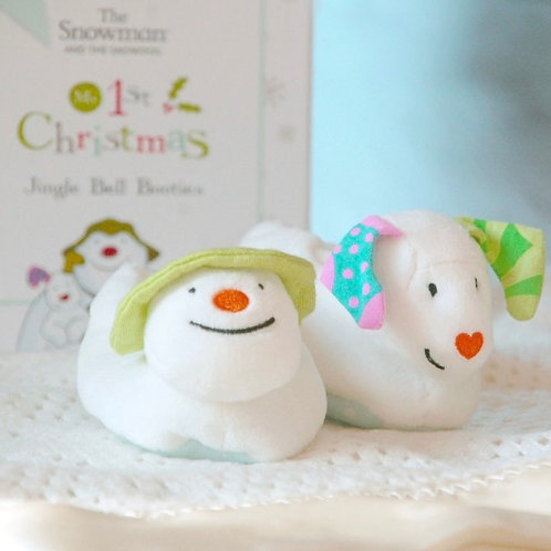 Limited Edition The Snowman & The Snowdog Booties (0-6 months)