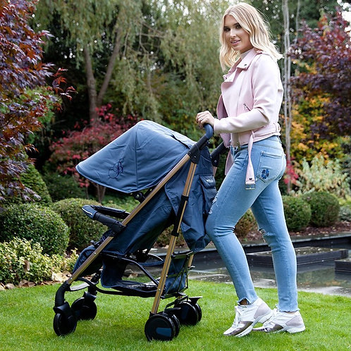 Billie Faiers Rose Gold Navy Lightweight Stroller