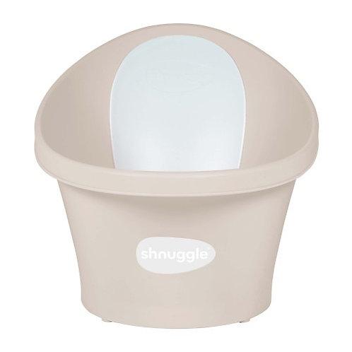 Shnuggle Baby Bath with Plug - Taupe