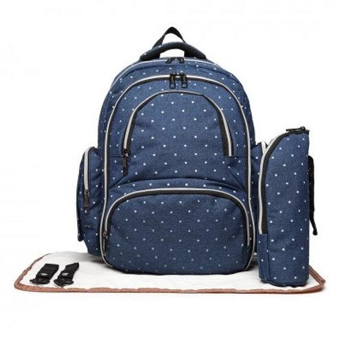 Blue Dot Oval Changing Bag