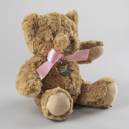 Personalised Bramble the Bear - Pink Bow