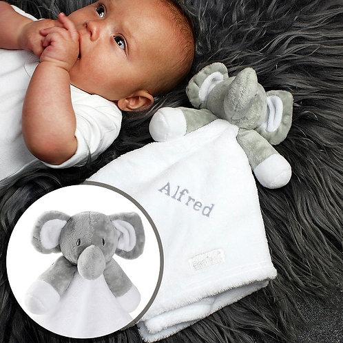 Elephant Personalised Comfort Blanket