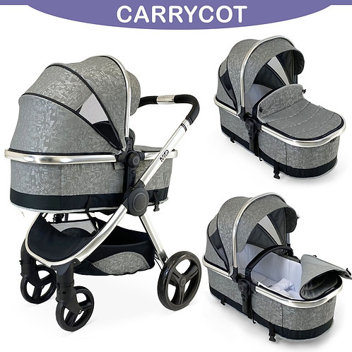 MiO All in One Travel System in Silver Mist