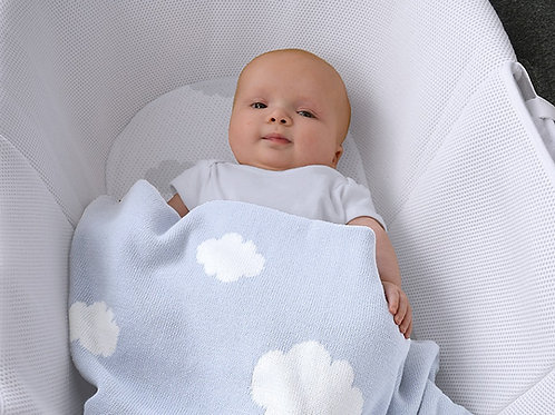 Shnuggle Knitted Clouds Blanket