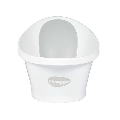 Shnuggle Baby Bath with Plug - White