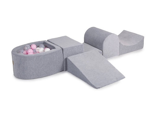 'Grey & Pink' Soft Play Set