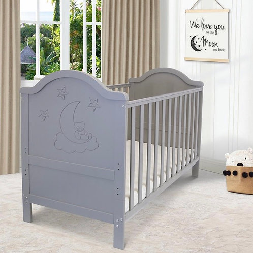 iSafe Wendy Cot Bed in Grey with Free Mattress
