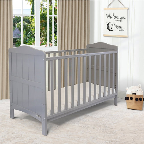 iSafe 'Monika' Cotbed in Grey with free mattress