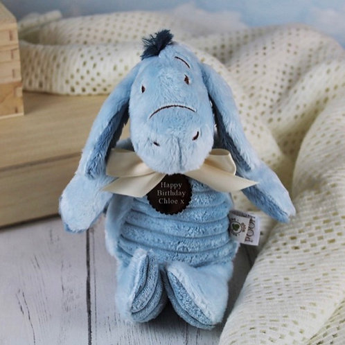 Classic Winnie The Pooh Personalised Soft Toy - Eeyore