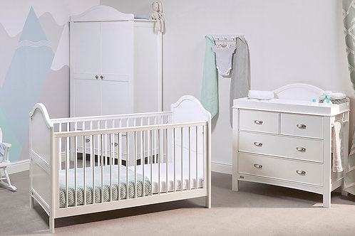 East Coast 'Toulouse' Collection - Cot Bed White