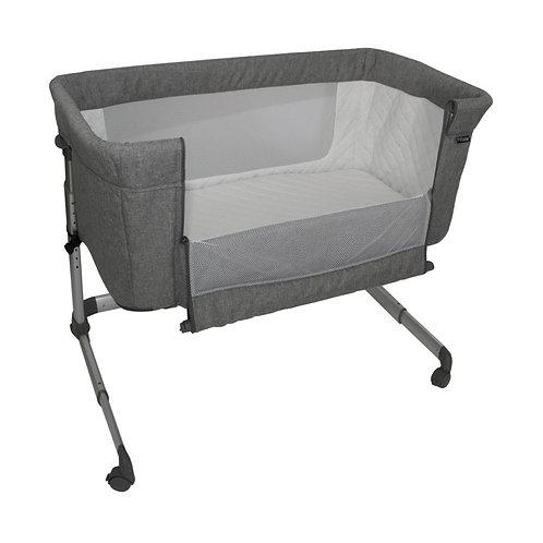 My Babiie Grey Melange Bedside Crib