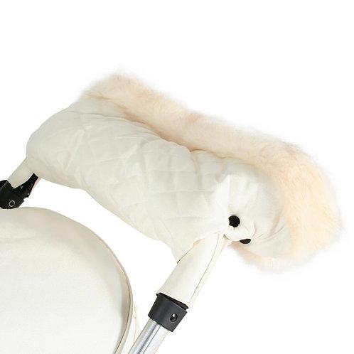 My Babiie Fur Trimmed Handmuff in Cream