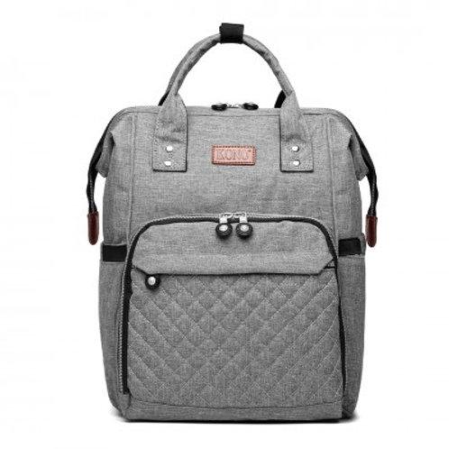 Grey Backpack Changing Bag