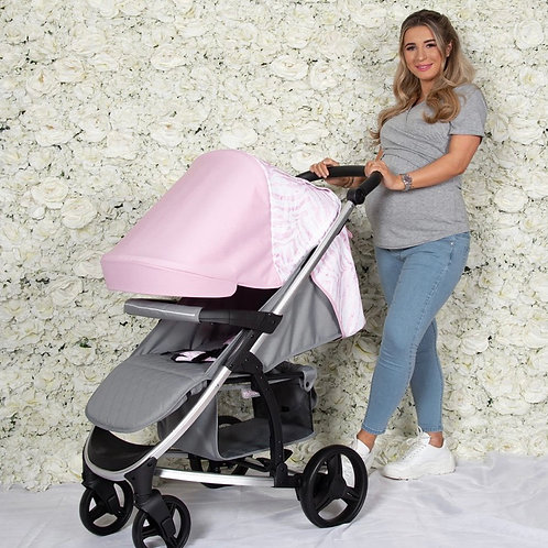 Dani Dyer Pink & Grey Pushchair