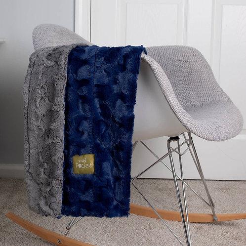 Blue-Grey Faux Fur Blanket
