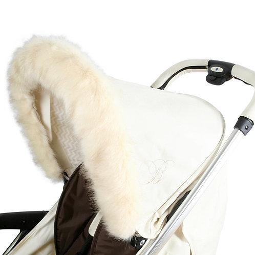 My Babiie Luxury Pram Fur in Cream