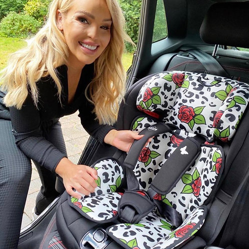 Katie Piper Group 1/2/3 Rose Leopard Car Seat