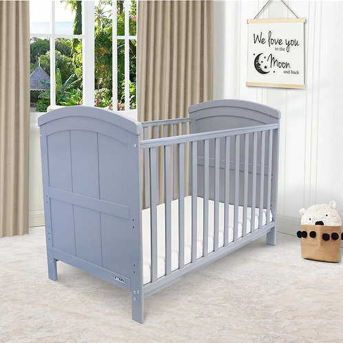 iSafe 'Liam' Cotbed in Grey with free mattress