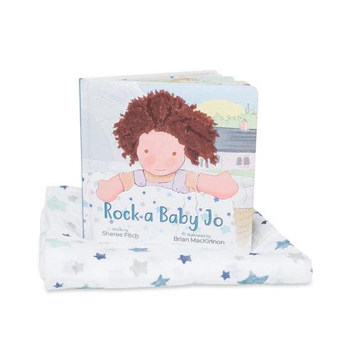 Rock-A-Bye Baby Jo Book & Swaddle Gift Set