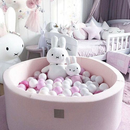 Meowbaby 40cm Tall Light Pink Round Ballpit with 200 Balls