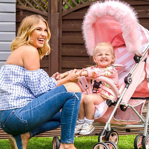 Billie Faiers Pink Chevron Lightweight Stroller