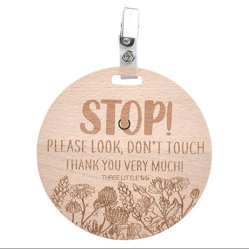 Wooden Floral Pram/Car Seat Sign