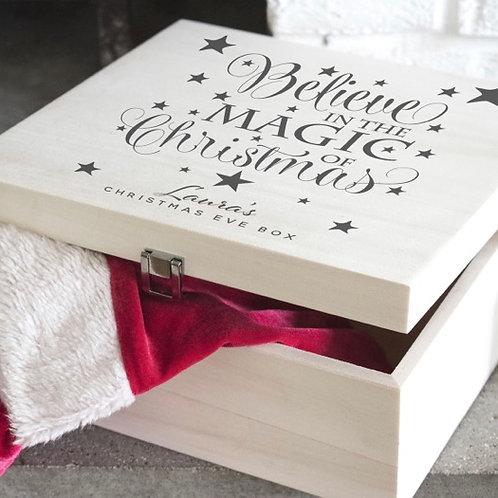 Personalised Believe Christmas Eve Box