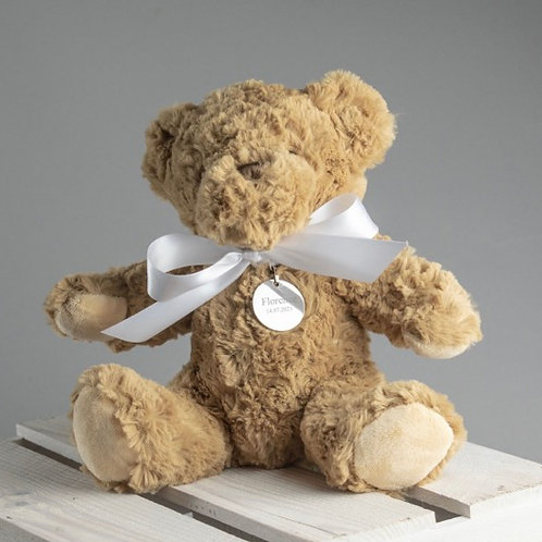 Personalised Bramble the Bear - White Bow