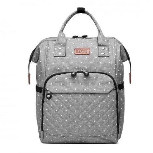 Grey Dot Changing Bag
