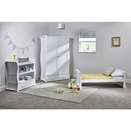 East Coast 'Nebraska' Collection - White Toddler Bed