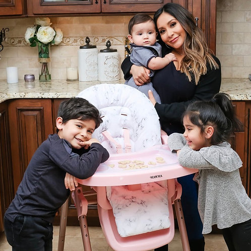 Snooki Marble Rose Gold Highchair
