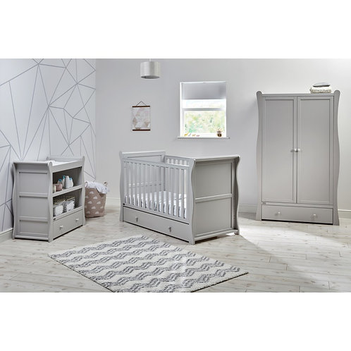 East Coast 'Nebraska' Collection - Cot Bed Grey