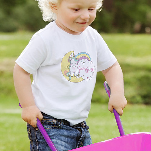 Personalised Baby Unicorn T-Shirt
