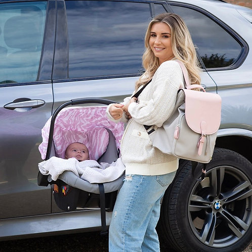 Dani Dyer Pink & Grey Changing Backpack